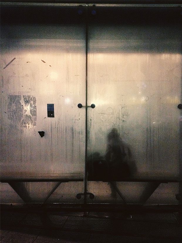 This french artist captures people waiting at bus stops