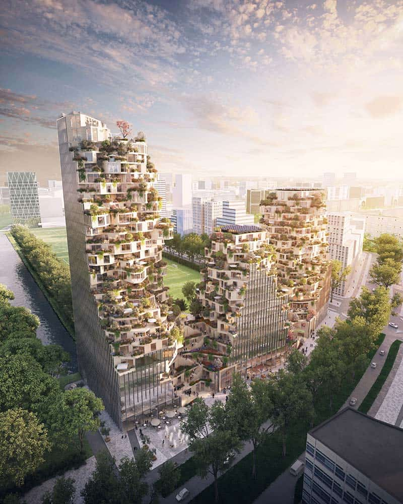 MVRDV and OVG win competition in Zuidas Business District, Amsterdam