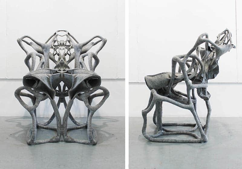 First Place - Fabric Chair by I-Ting Tsai, Xixi Zheng, Yiru Yun, and Somdatta Majumdar