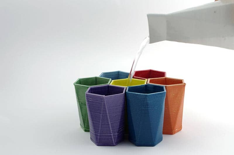 The 3D printed ceramic collection by Andrea Reggiani and Davide Tuberga