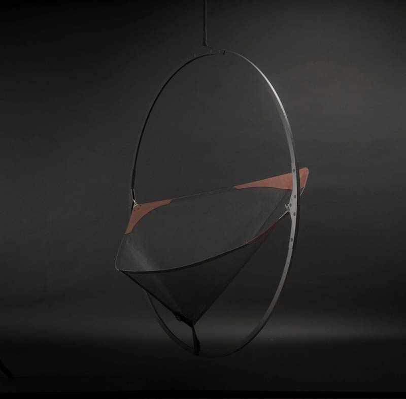 Larose Guyon's new lighting fixtures collection and Les Ateliers Guyon's new hanging chair