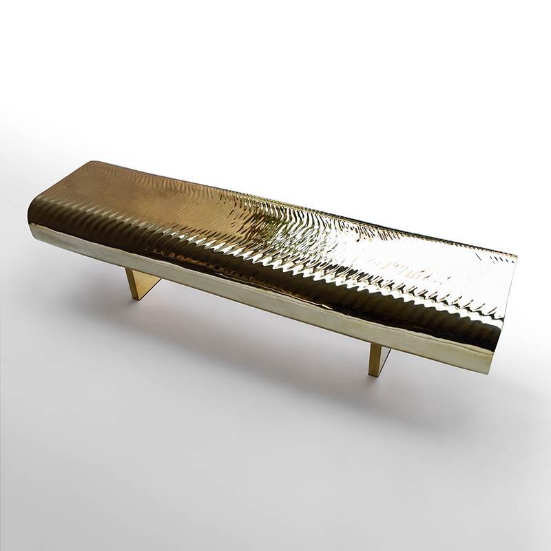 """Water Block"" - Golden brass by Tokujin Yoshioka"