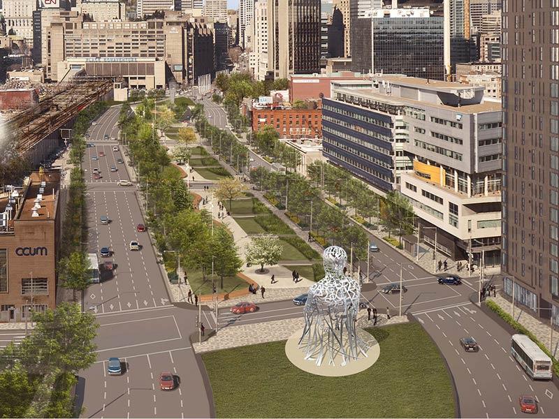 International artist Jaume Plensa creates a monumental artwork for Montréal