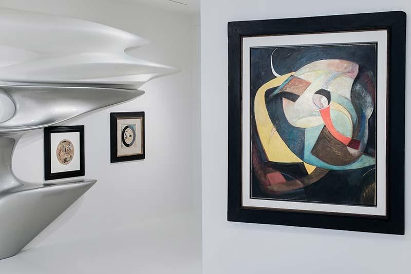 Kurt Schwitters: Merz, exhibition designed by Zaha Hadid