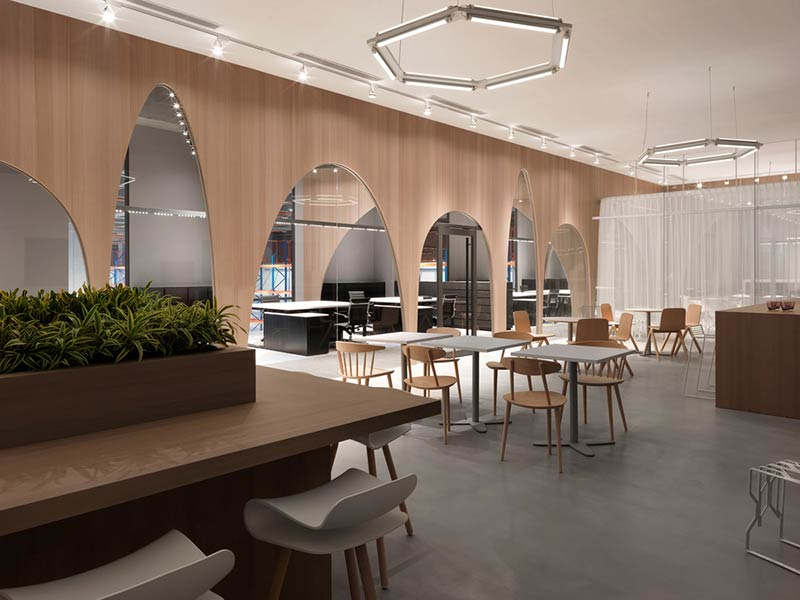 H&M Taiwan office - Courtyard by J.C. Architecture