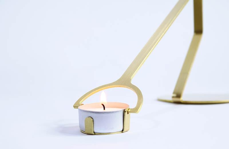 Rising Balance candleholder by Laura Bin