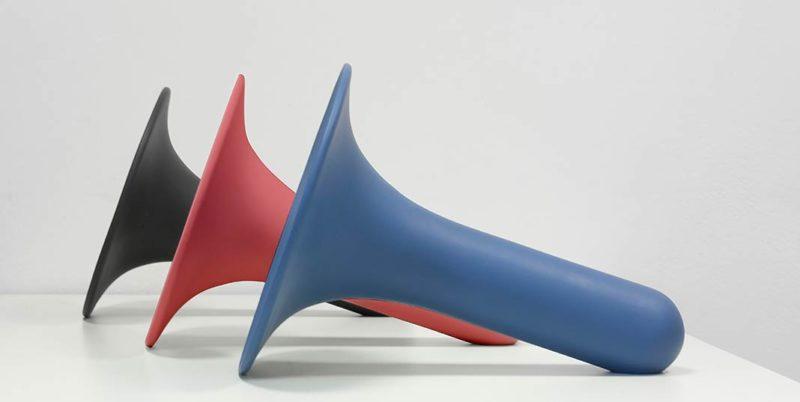 Newblack presents Luciano, the ceramic bluetooth speaker designed by Paolo Cappello