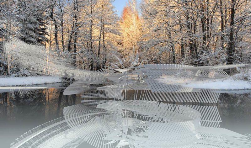 Photovoltaic Ice Skating Rink by Margot Krasojević Architects