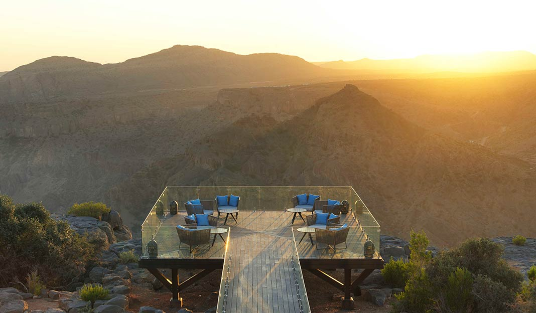 Lotfi Sidirahal from Atelier Pod Designs the Highest Five Star in the Middle East: Anantara Jabal Akhdar