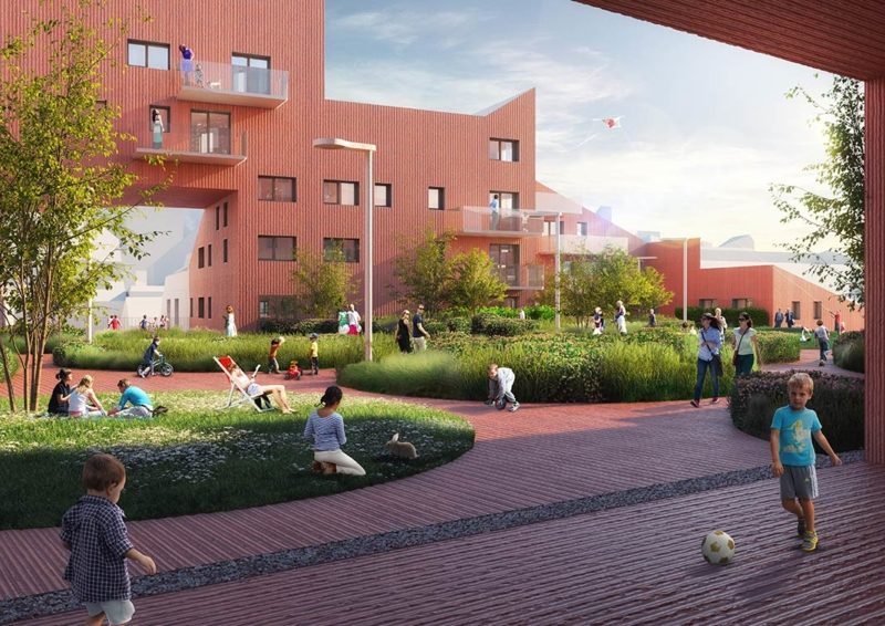 Ilot Queyries, a pilot project by MVRDV in Bordeaux updates the European city with intimacy, liveliness, light and an adapted scale