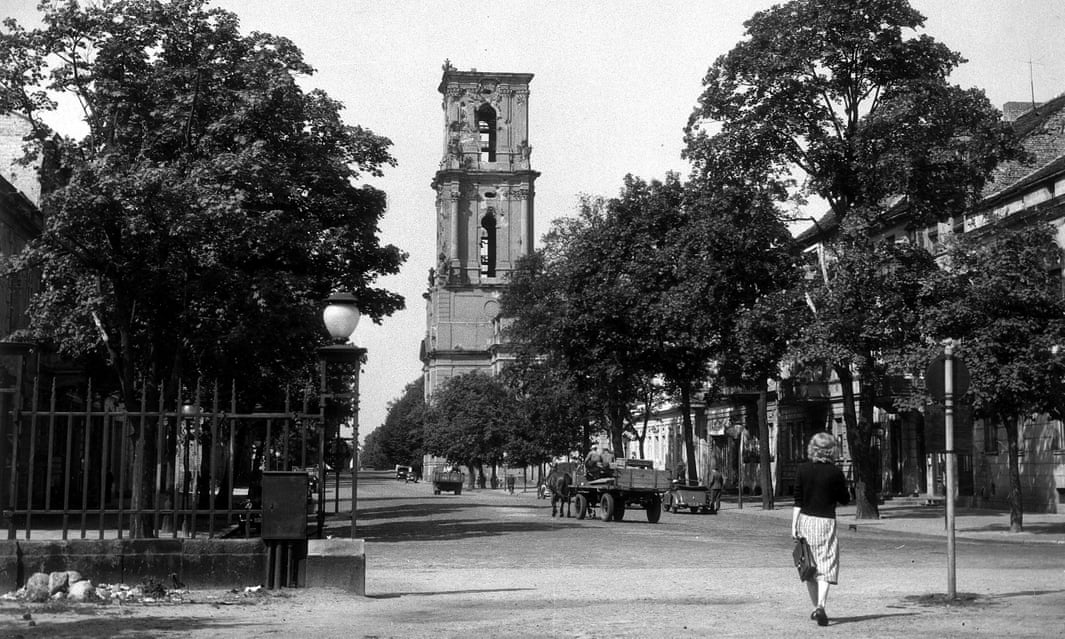 Garrison Church in Potsdam, 1967: the Communists removed the bells, damaged by an air raid during the war.
