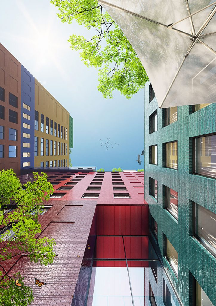 """MVRDV Breaks Ground on its First US Project, a Colourful 22-Storey """"Vertical Village"""" in Manhattan's Washington Heights"""