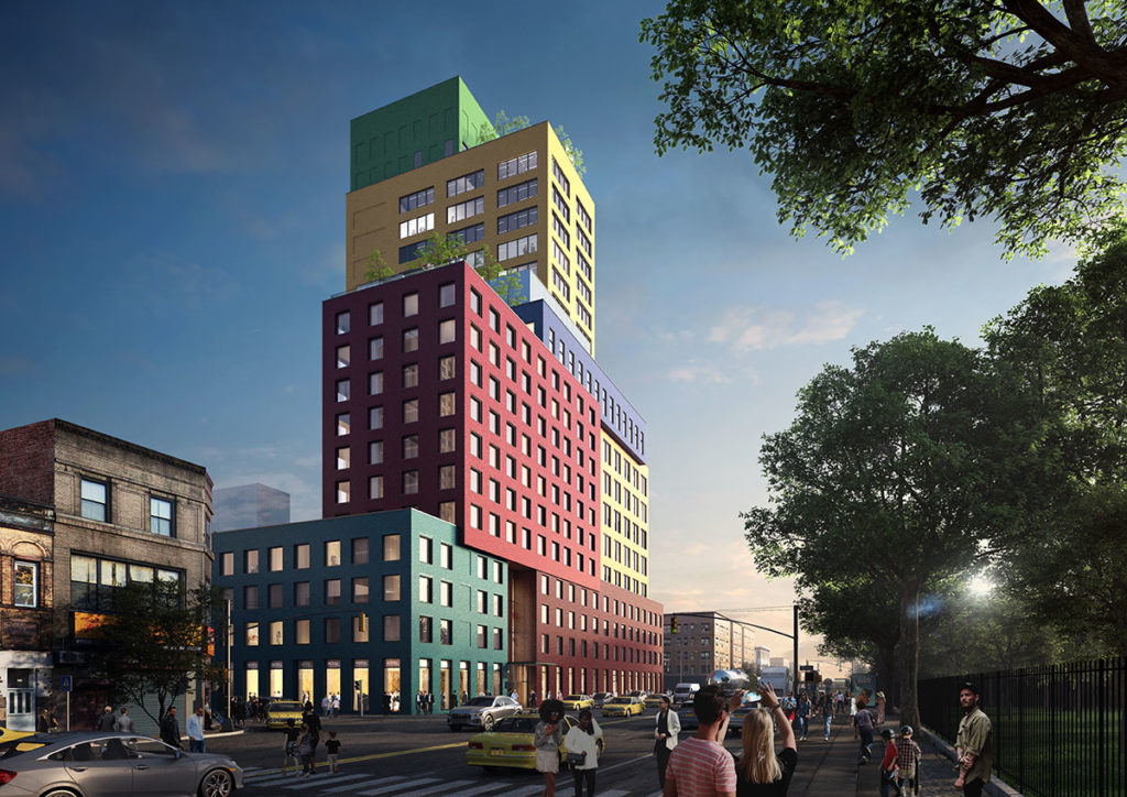 "MVRDV Breaks Ground on its First US Project, a Colourful 22-Storey ""Vertical Village"" in Manhattan's Washington Heights"
