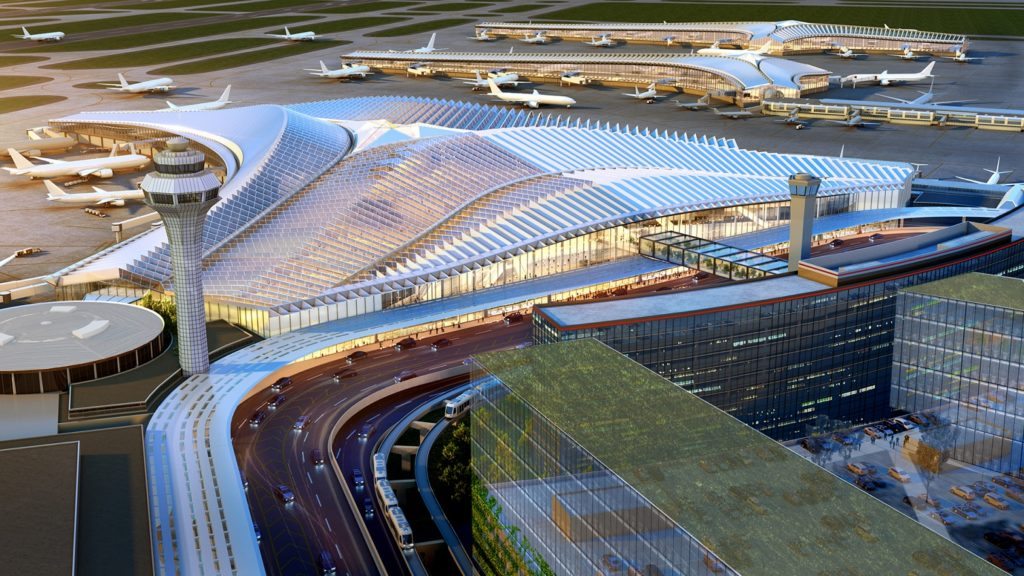 Global Terminal and Concourse at Chicago's O'Hare Airport