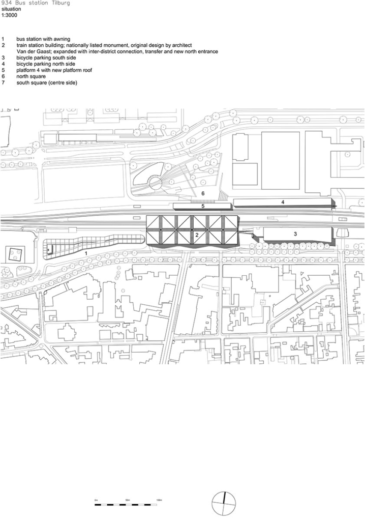 Situation Plan, Tilburg Bus Station, The Netherlands