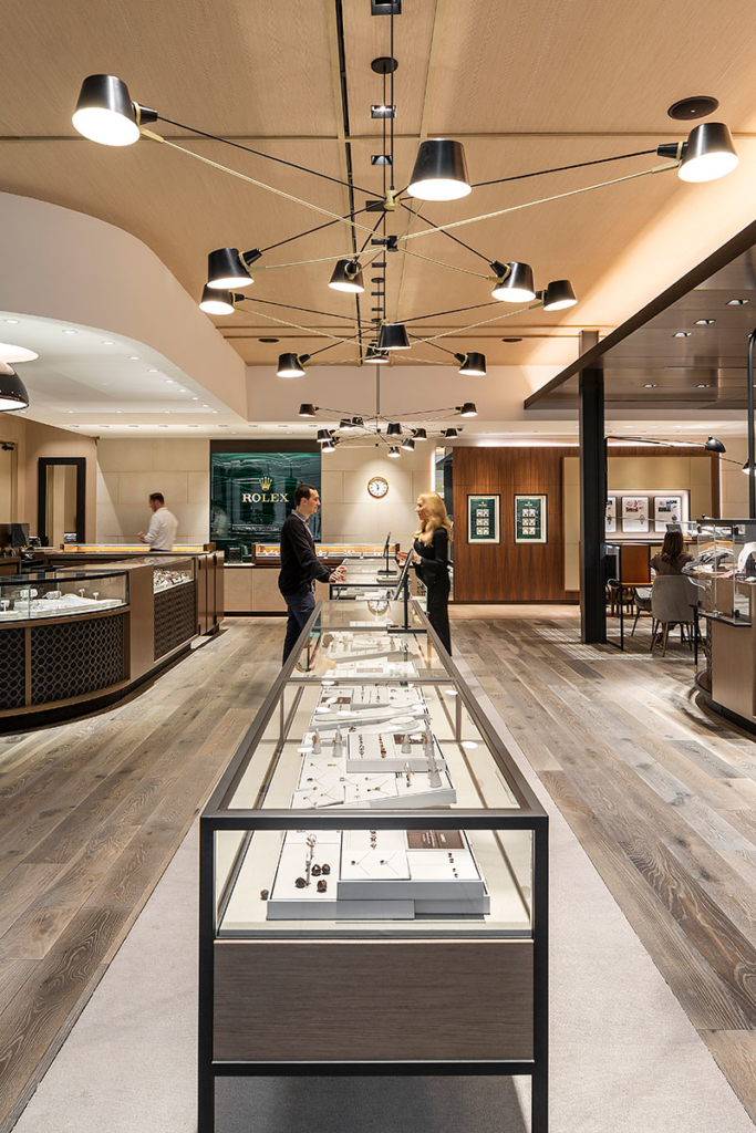 View into store - Ben Bridge Jewelers, Seattle