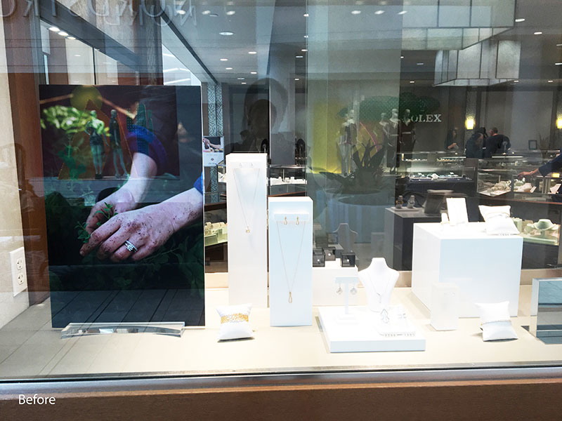 Existing Window Display (before)- Ben Bridge Jewelers, Seattle