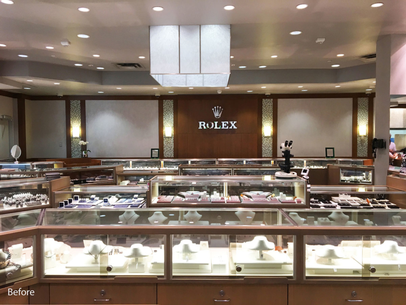 Existing Sales Counter (before) - Ben Bridge Jewelers, Seattle