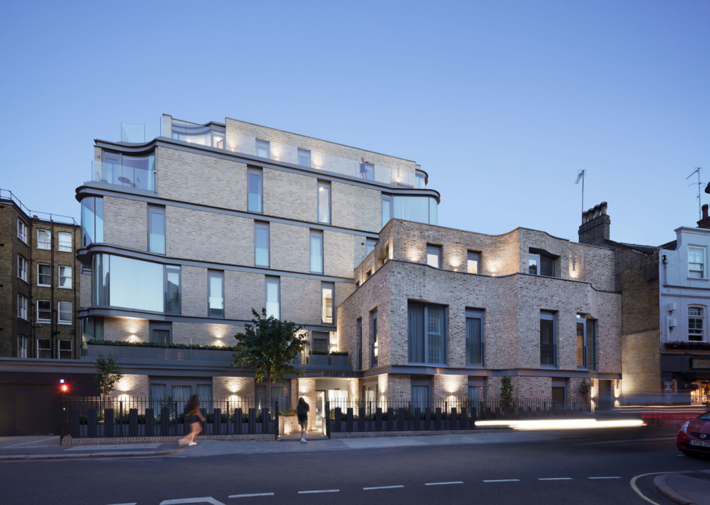 Rear facade and town houses - Castle Lane Apartments by DROO