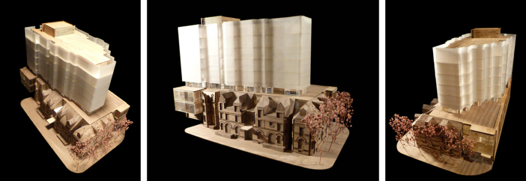 Model studies - 7 St. Thomas by Hariri Pontarini Architects