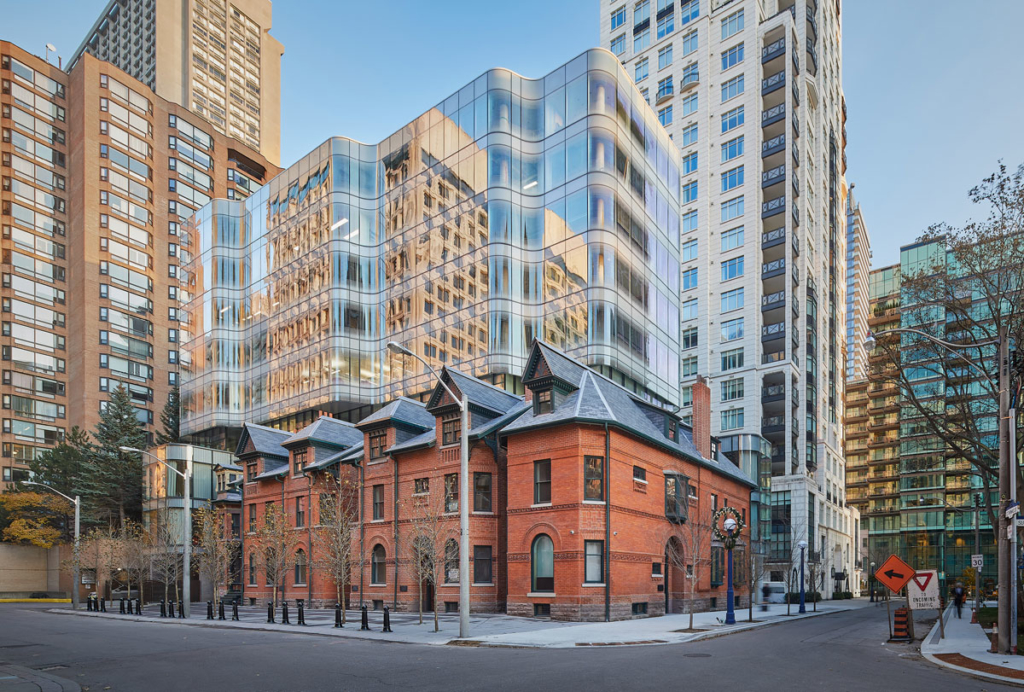 View looking south-east - 7 St. Thomas by Hariri Pontarini Architects
