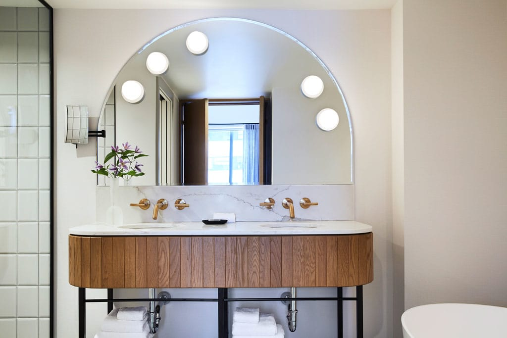 The Northern, presidential suite master bathroom