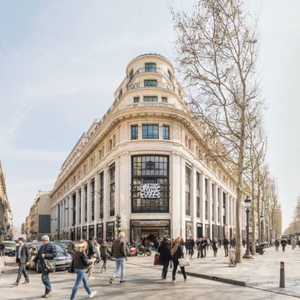 Elevation - Galeries LaFayette Flagship on Champs-Elysees by BIG