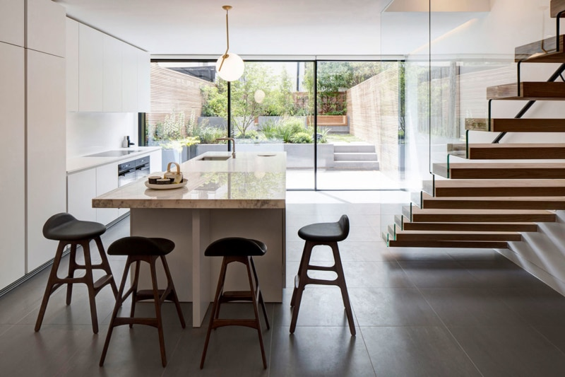 Kitchen, Englefield House, London by DROO