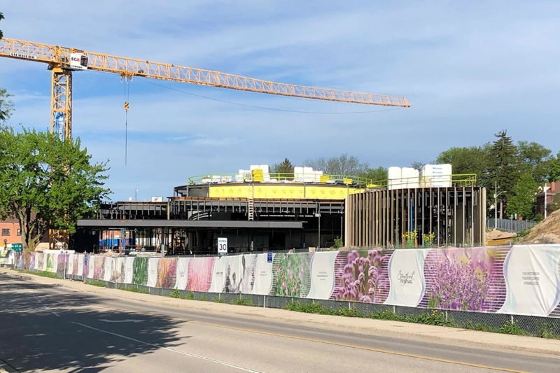 Theatre Entrance Construction, Topping-Off Ceremony at the Tom Patterson Theatre for the Stratford Festival