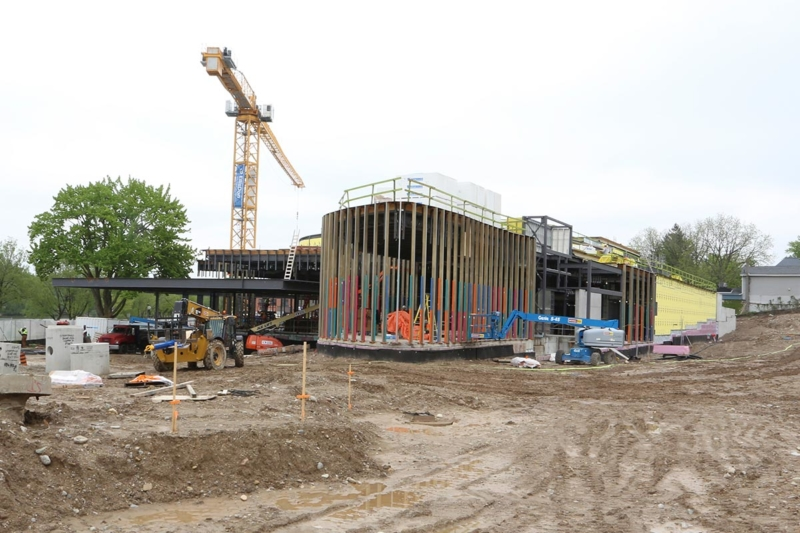 Theatre Construction, Topping-Off Ceremony at the Tom Patterson Theatre for the Stratford Festival