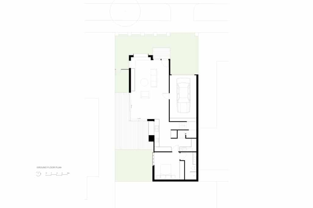 Ground Floor Plan, Brodecky House / Atlas Architects