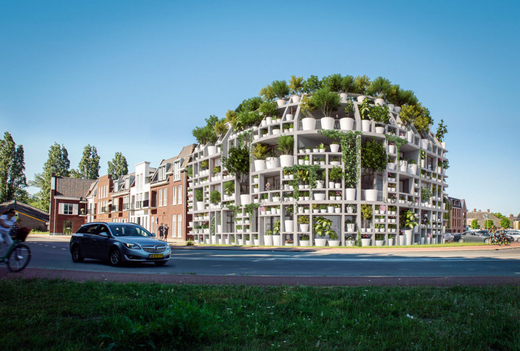 "MVRDV's ""Green Villa"" Is a Corner Residential Building Covered in Plants"