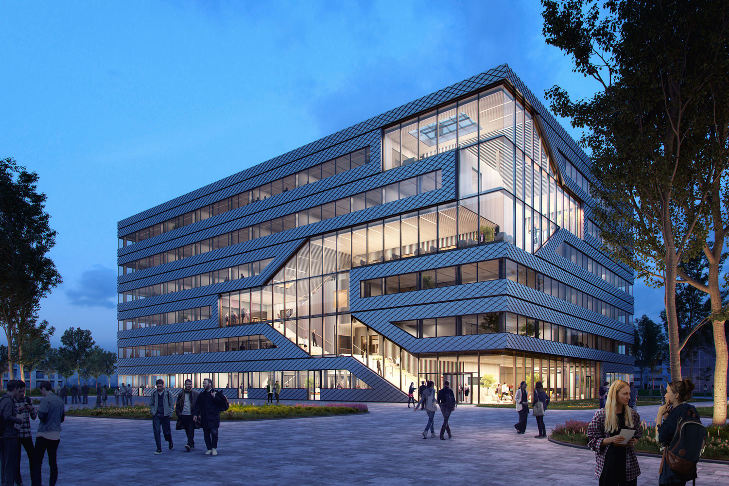 MVRDV Designs Sustainable Office and Laboratory Complex for Amsterdam Science Park