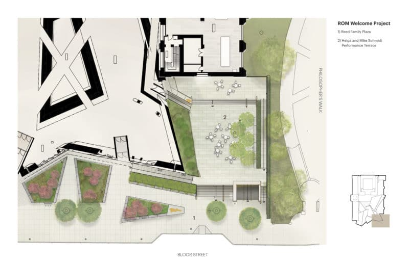 Site Plan of the Helga and Mike Schmidt Performance Terrace and the Reed Family Plaza