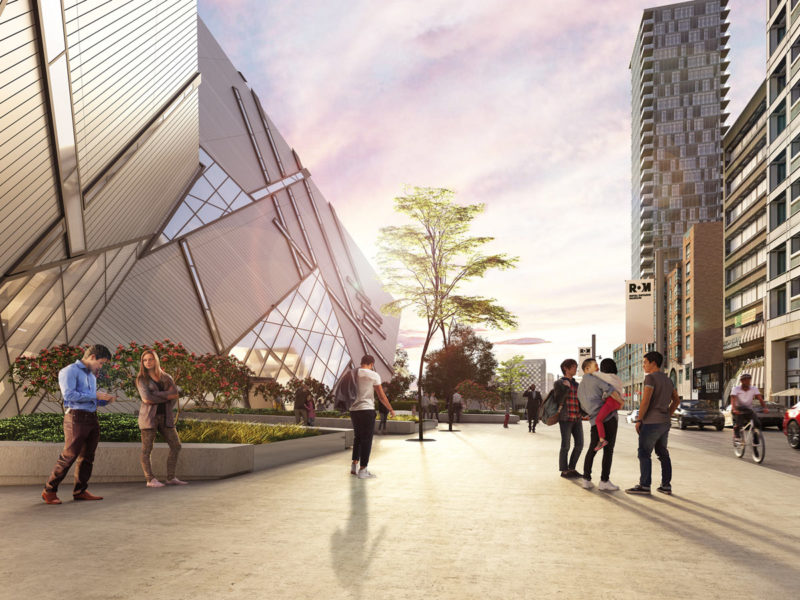 Rendering of the Reed Family Plaza facing west