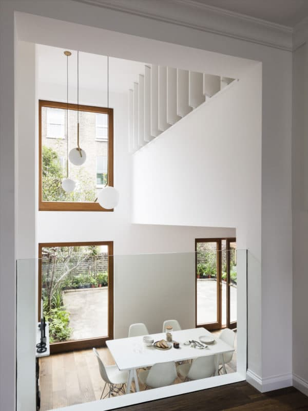 Dining Room with open louvers