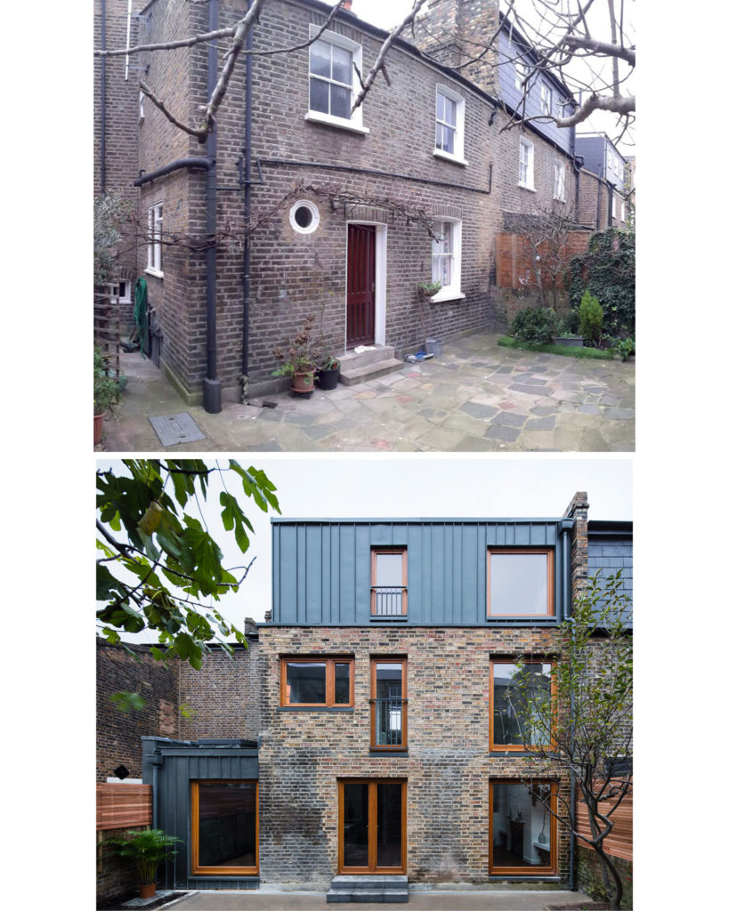 Exterior: Before and after