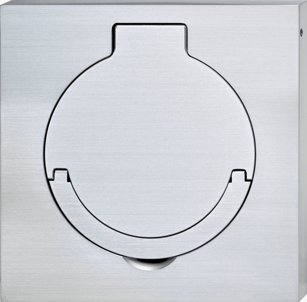 100x100x10 mm, brass, Chromé Mat