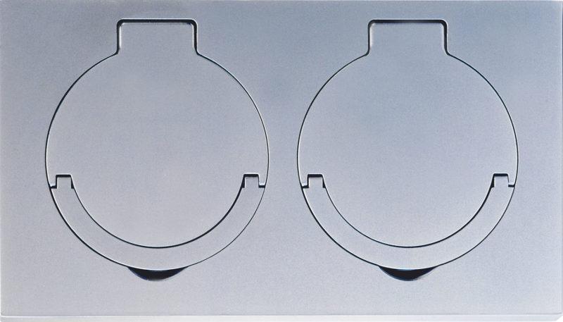 180x100x10 mm, Brass, Microbillé Nickel