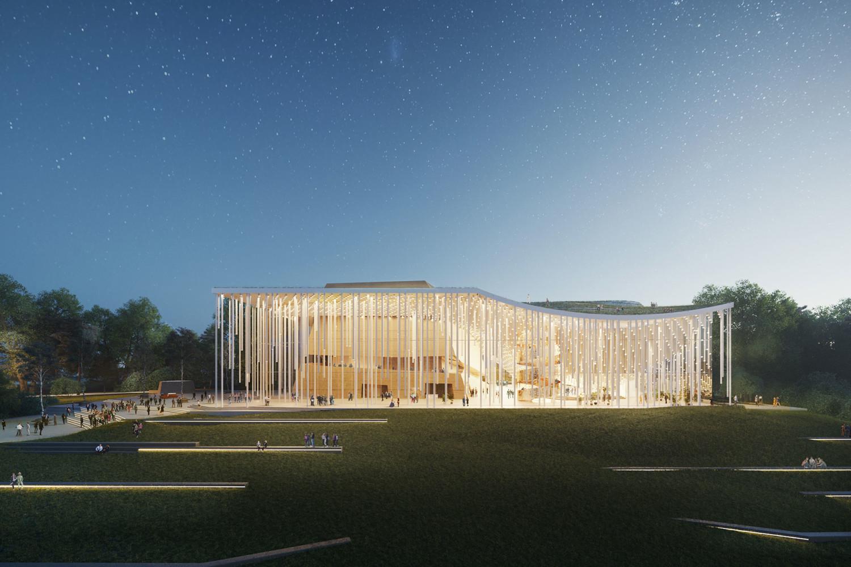 Tauras Hall Proposal by Orange Architects