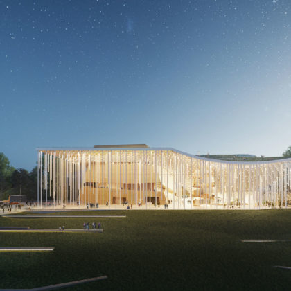 Tauras Hall Proposal by Orange Architects
