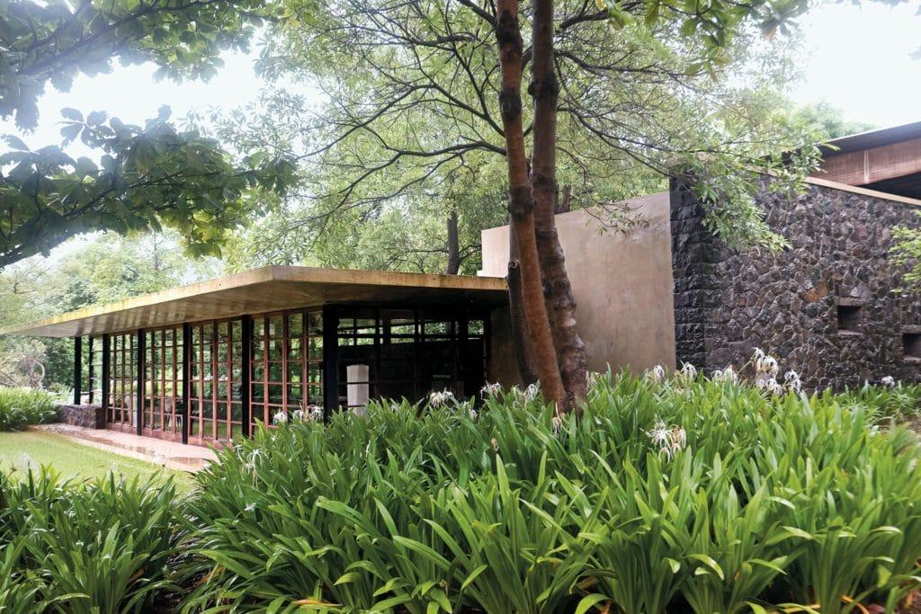 The exterior of Utsav House betrays its airy interiors