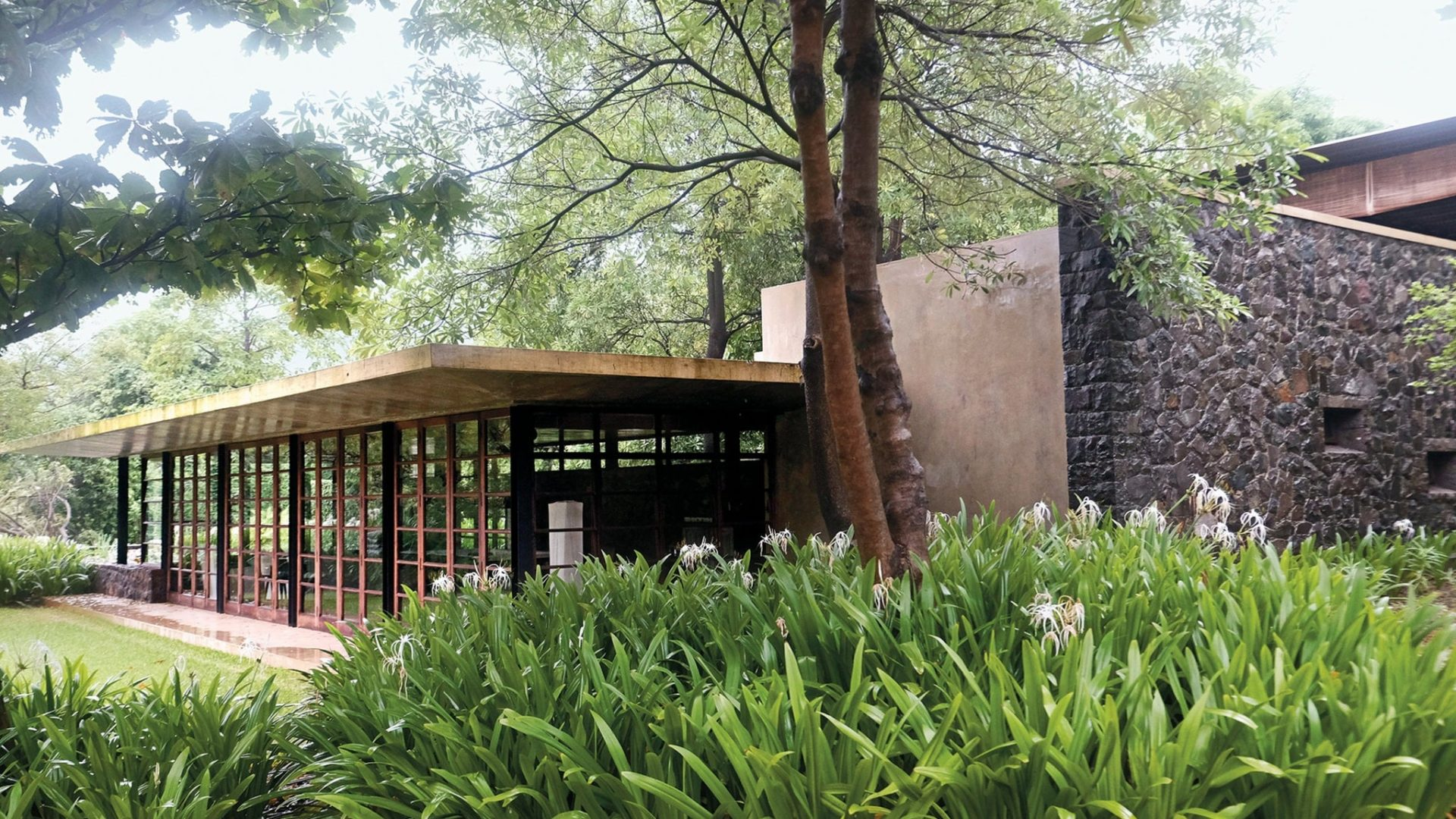 The exterior of Utsav House betrays its airy interiors