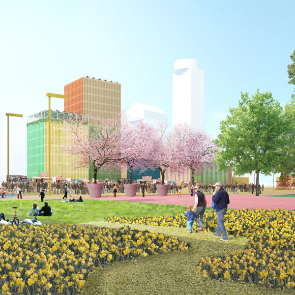 """A """"City Oasis"""": MVRDV Designs Convention Centre with a Green Roof in Utrecht"""