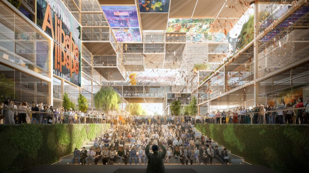 Foster + Partners wins competition to design Alibaba's new HQ in Shanghai