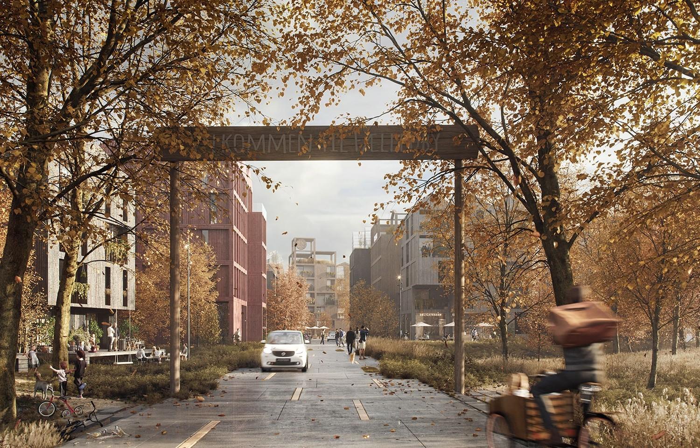 Henning Larsen to design Fælledby, Copenhagen's first all timber neighborhood