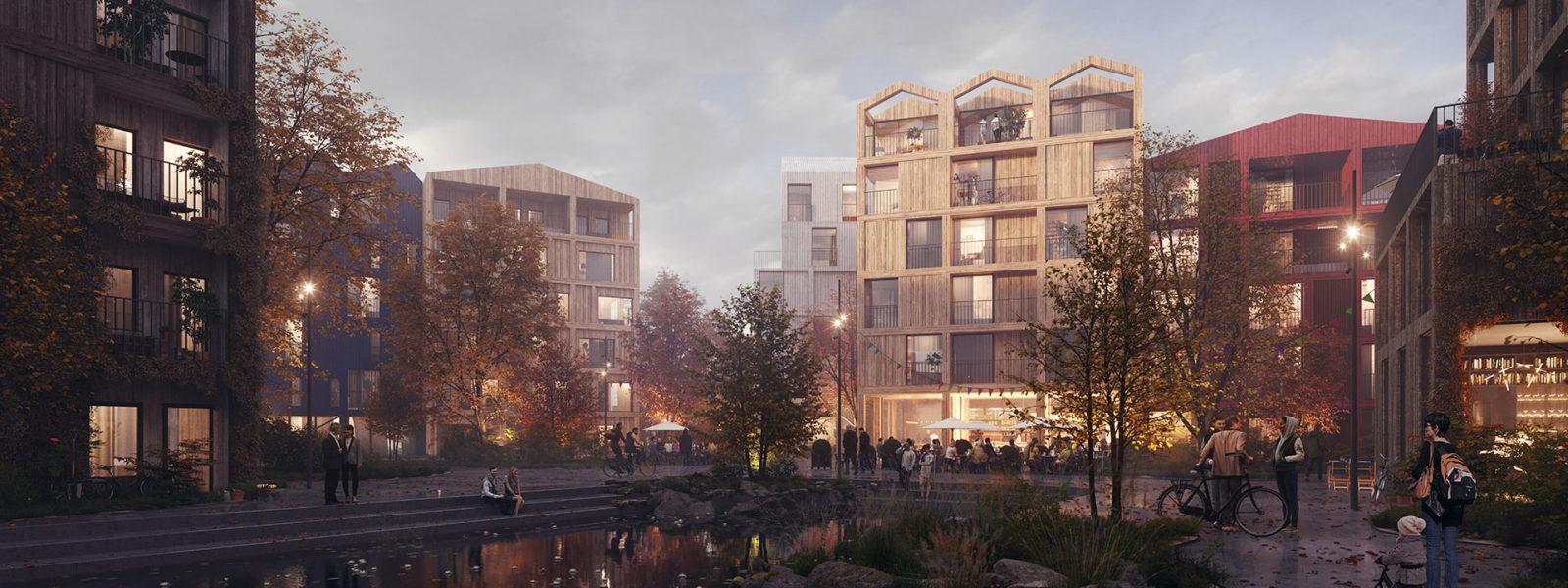 Henning Larsen to design Fælledby, Copenhagen's first all timber neighborhood