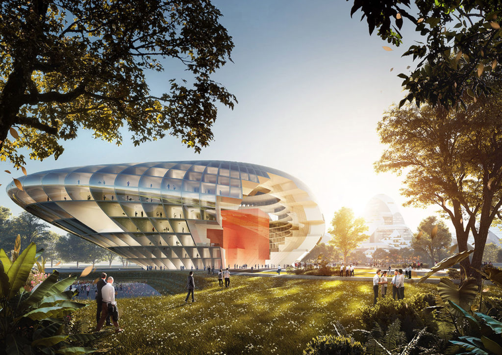 MVRDV reveals their entry for Tencent Campus Competition