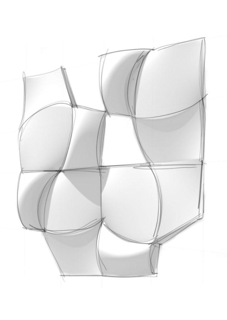 torso drawing