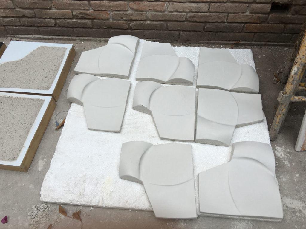 concrete silhouette pieces